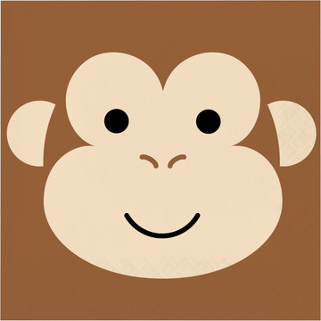 Zoo Animals Monkey Lunch Napkins (16)