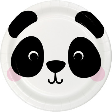Zoo Animals Panda Lunch Plates (8)