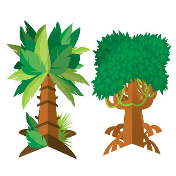 Zoo Animals Tree Centerpieces (2)