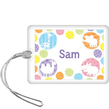 Zoo Babies Party Personalized Bag Tag (each)