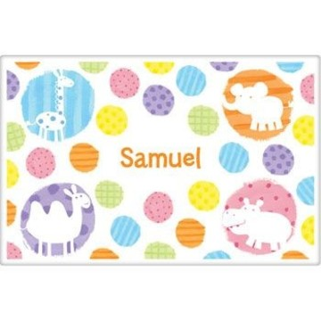 Zoo Babies Party Personalized Placemat (each)
