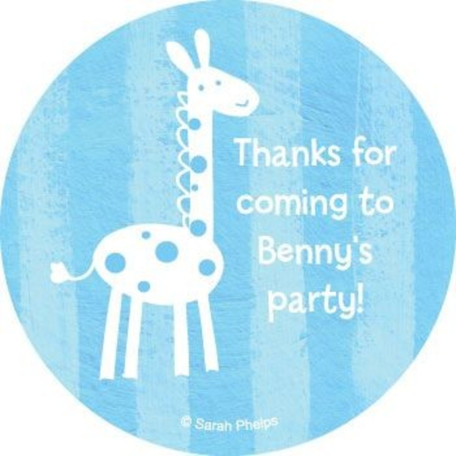 View larger image of Zoo Babies Party Personalized Stickers (sheet of 12)