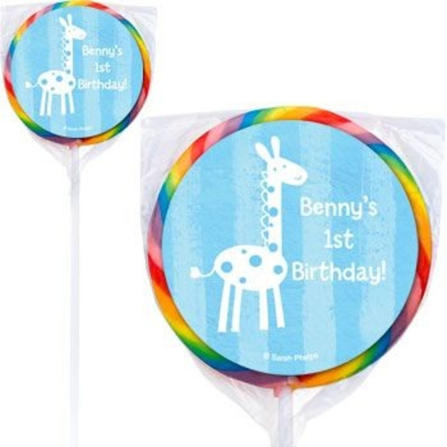 View larger image of Zoo Babies Personalized Lollipops (pack of 12)